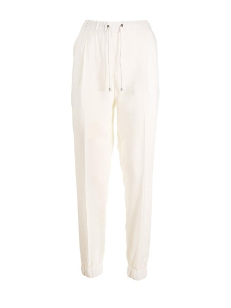 Shop FABIANA FILIPPI  Trousers: Fabiana Filippi wide fit jogging pants with pences in silk. Drawstring in rope on the waist. Oblique pockets. Elastic on the ankles. Composition: 95% polyester 5% silk. Made in Italy.. PG93318  J866-064
