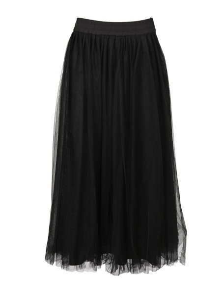 Shop FABIANA FILIPPI  Skirt: Fabiana Filippi doubled long skirt made of tulle. Curled at the waistline. Lined. Composition: 95% cotton 5% elastane. Made in Italy.. PG93718  J869-825