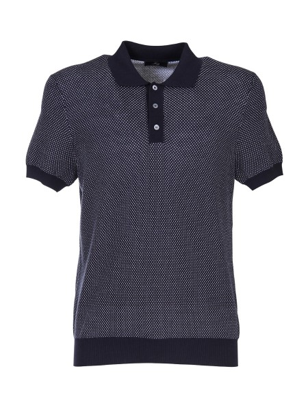 Shop FAY  Polo Shirt: Fay fancy polo shirt in cotton. Short sleeves. Collar, bottom and sleeve profile, in contrast. Composition: 100% cotton. Made in Italy.. NMMC1362110POK-903P