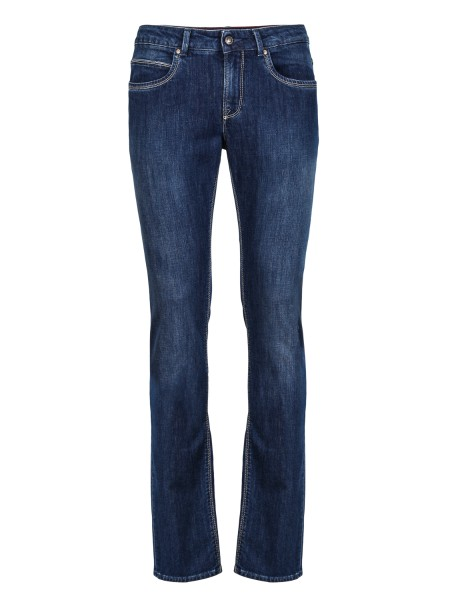 Shop FAY  Jeans: Fay jeans five pockets in stretch cotton canvas. Regular fit. Composition: 98% cotton 2% elastane. Made in Italy.. NTM8236196LHAE-U801
