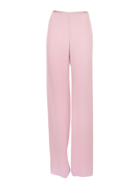 Shop GIORGIO ARMANI  Trousers: Giorgio Armani gray pink trousers. Classic cut, wide and confortable. High waist. Side zip. Composition: 100% viscose. Made in Italy.. WAP63T WA524 -324