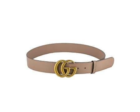 Shop GUCCI  Belt: Gucci beige leather belt. GG marmont golden buckle. Size: width: 4cm. Made in Italy.. 400593 AP00T -5729