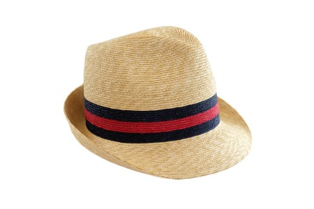 shop GUCCI  Hat: Gucci classic tight-brimmed straw hat. Decorated with historic red and blue web. Composition: 100% straw. Made in Italy.. 434760 K0M00-9668 number 1966278