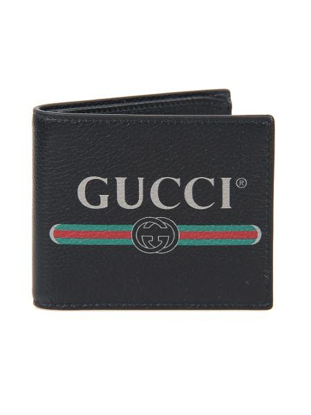 Gucci Gucci Portafoglio In Pelle Nera Con S Corteccisiena