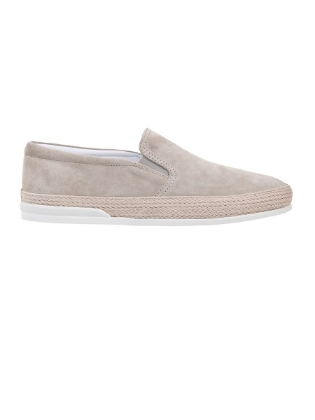 Shop HOGAN Saldi Scarpe: Hogan slip-on H358 in suede beige.  Logo Hogan impresso. Tomaia in suede. Dettaglio in corda. Suola in gomma. Custodia in tessuto inclusa. Made in Italy.. HXM3580AE50HG0-C803