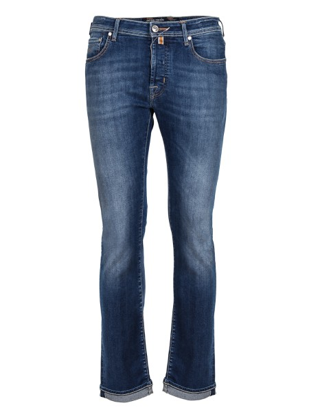 Shop JACOB COHEN  Jeans: Jacob Cohen denim jeans, Limited Edition. Model: J688. Closure with branded buttons. Horse patch. Composition: 92% cotton 6% elastomultiester 2% elastane. Made in Italy.. J688 LIMITED COMF 08792 W2-002