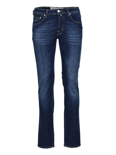 Shop JACOB COHEN  Jeans: Jacob Cohen denim jeans. Model: PW688 comf. Closure with branded button. Horse patch. Composition: 92% cotton 6% elastomultiester 2% elastane. Made in Italy.. PW688 COMF 00919 W2-002