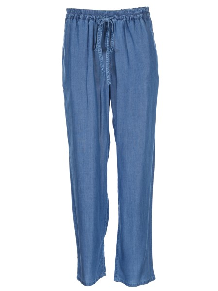 Shop MICHAEL KORS Sales Jeans: Michael Michael Kors light denim. Elastic and drawstring on the waist. Wide fit. Composition: 100% lyocell.. MH73GU65FS-401