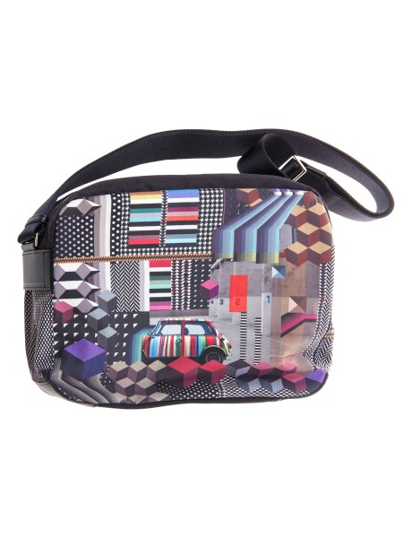 "Shop PAUL SMITH  Tracolla: PS Paul Smith tracolla ""geometrric mini"". Tracolla regolabile. Chiusura con zip. Scomparti interni. Composizione: 100% poliestere.. AUXC 5270 L943-79"