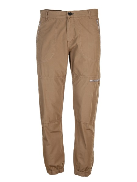 Shop PAUL SMITH  Pantalone: PS Paul Smith pantalone cargo beige in cotone. Tasche con zip. Elastico sul fondo. Chiusura con zip e bottone. Composizione: 98% cotone 2% elastan.. PUXD 961R 518-65