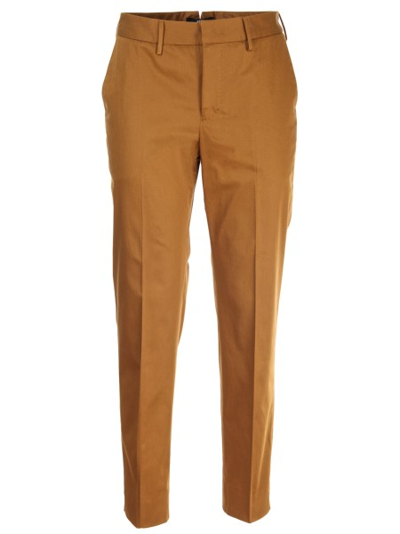 Shop PT01  Trousers: PT 01 brown trousers in cotton satin, stretch. Composition: 98% cotton 2% elastane. Made in Italy.. CDVSNYZ00STD N.Y BP24-0150