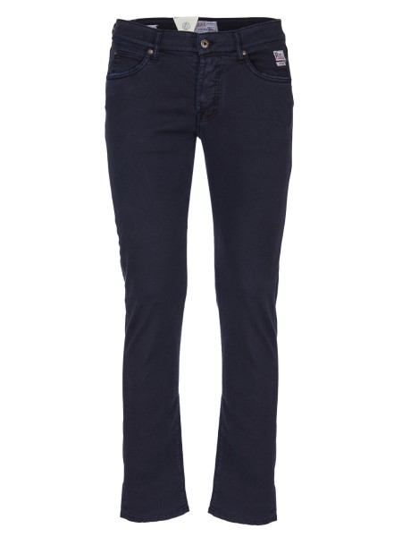 Shop ROY ROGER'S  Jeans: Roy Roger's blue stretch trousers. Model with five pockets. Logo on the front and on the back pocket. Patch in denim canvas. Composition: 60% cotton 37% lyocell 3% elastane. Made in Italy.. 529 SUPERIOR DRILL-001
