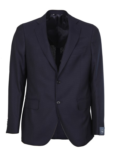 Shop TOMBOLINI  Jacket: Tombolini blue jacket in cool wool. Half inner lining. Pockets with flap. Two-button closure. Two slits, rear. Composition: 100% wool. Made in Italy.. G339 IALL-U780