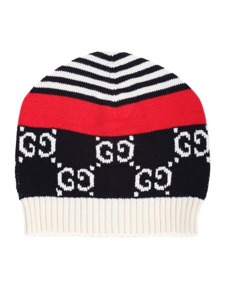 Shop GUCCI Cappello  Gucci berretto con motivo iconico GG ee2c8a956f54