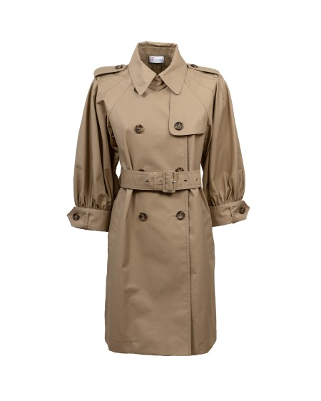 Shop RED VALENTINO  Trench: Red Valentino trench in gabardine leggera con manica ampia. Colletto. Maniche lunghe. Epaulettes. Piega invertita sul retro. Vestibilità regolare. Composizione: 67% cotone 33% poliestere. Made in Ungheria.. VR0CHB154YM-191