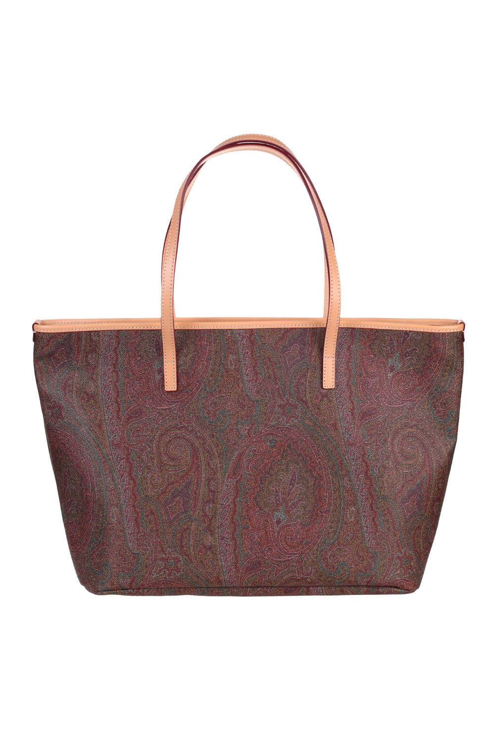 shop ETRO  Borsa: Etro Shopping bag Medium. Chiusura con zip. Iconica stampa Paisley. Tasca interna con due scomparti. Tasca interna con zip. Dettagli in pelle. Composizione dettagli : 100% pelle. Dimensioni: L 34cm x A 27cm x P 15cm. Made in Italy.. 0D088 8010-0600 number 5654661
